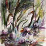 """""""Garlic Still Life Real Watercolor and Pastel"""" by GinetteCallaway"""