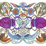"""Colorful Creatures (org.16""19"")"" by KenRileyArt"