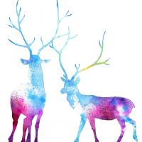 My Deer Galaxy Art Prints & Posters by Annya Kai
