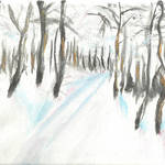 """""""PATH IN THE SNOW"""" by PERRYS-CLASSIC-ART"""