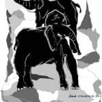 """Two Elephants"" by artbyshesh"