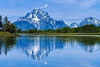 Mount Moran in The Grand Teton from Oxbow Bend