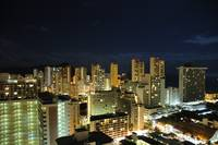 Waikiki Diamond Head  at night