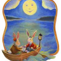 Rowboat Rabbits Art Prints & Posters by Matthew Finger