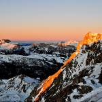 """First lights of the day on the dolomites mountains"" by FrancescoMalpensi"