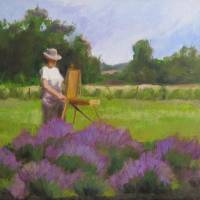 Lavender Harvest Art Prints & Posters by Marion Corbin Mayer
