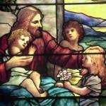 """Jesus Blessing The Children in stained glass"" by neilepi"