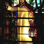 """Jesus, Light of The World, in stained glass"" by neilepi"
