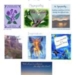 """Sympathy & Inspiration Card Samples (c)Lauren Curt"" by LaurenCurtis"