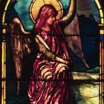 """Angel in stained glass by John la Farge"" by neilepi"
