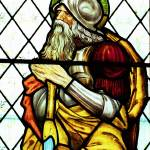 """Abraham stained glass design by Edward Burne-Jones"" by neilepi"