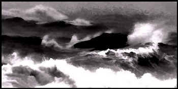 Surfs Up B+W Abstract