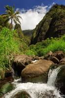 Waterfall At The Iao Needle
