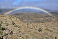 Rainbow In the Kilauea Caldera