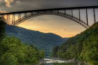 New River Gorge Bridge from Fayette Station Bridge