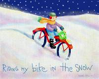 'Riding my bike in the Snow'