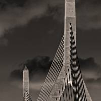 """Leonard P Zakim Bunker Hill Memorial Bridge Boston"" by WilshireImages"