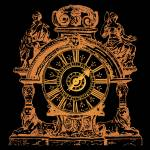 """Bronze Clock"" by Sharon_himes"