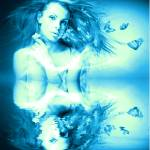 """Blue Buterflies"" by goddessfantasyprints"