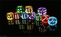 Dice On Black