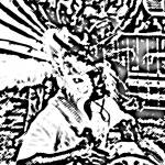 """""""Junkanoo Eagle Drummer BW"""" by paulyworksfineart"""
