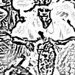 """""""Rhythm Drummer BW"""" by paulyworksfineart"""