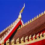 """Roof of Buddhist Temple in Vientiane, Laos"" by ingojez"