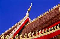 Roof of Buddhist Temple in Vientiane, Laos