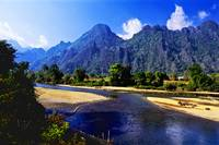 Landscape in Laos