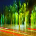 """Colorful blurred night scene"" by ingojez"