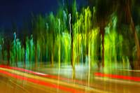 Colorful blurred night scene