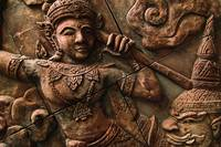Ancient Thai historical relief