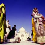 """Local women at the Taj Mahal, India"" by ingojez"
