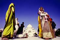 Local women at the Taj Mahal, India