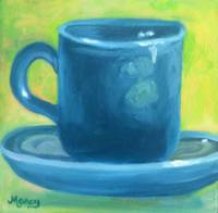 Turquoise Fiestaware Cup and Saucer