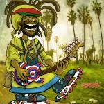 """Venice Beach Rasta Roller"" by Ebenlo"