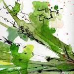 Abstract Green Spray Parsley Watercolor