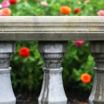 """Flowers and Balustrade"" by shelleykinder"