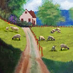 """""""Sheep In The Meadow"""" by EMBlairArtwork"""