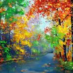 """Autumn Trees"" by EMBlairArtwork"