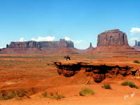 A Navajo Overlooks His Range, Monument Valley 0109