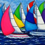 """Colorful Regatta"" by LisaLorenz"
