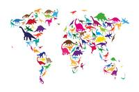 Dinosaur Map of the World Map