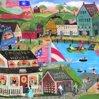 Summertime Spirit Folk Art Art Prints & Posters by Cheryl Bartley