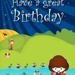 """""""the_night_badgers_go_swimming_card-1"""" by springwoodemedia"""
