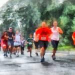 """Racing in the Rain"" by susansartgallery"