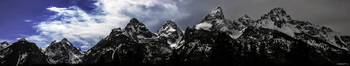 Grand Tetons Storm Panoramic