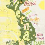 """vietnam map"" by Migy"