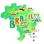 """brazil map"" by Migy"