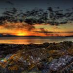 """portencross Sunset."" by paulnfe_photography"